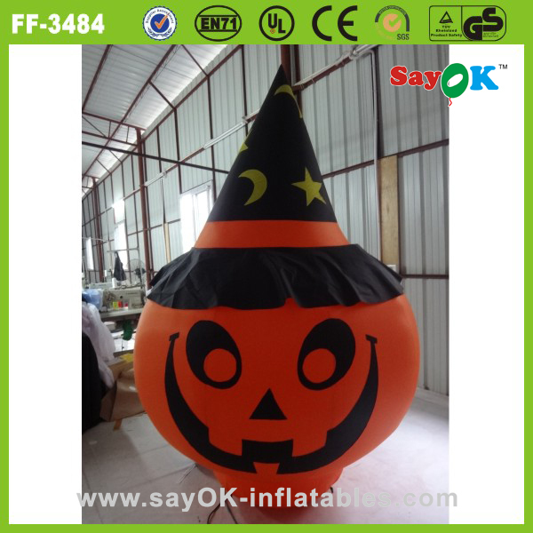 hot sale decorative lighting inflatable Halloween pumpkin model