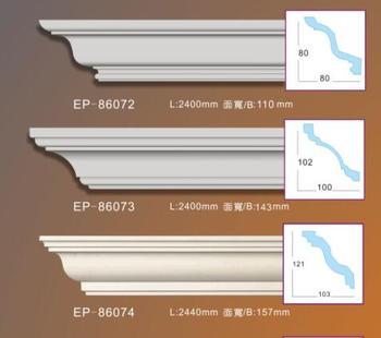 chinese cheap price PU polyurethane home decor decorative building material carved cornice moulding
