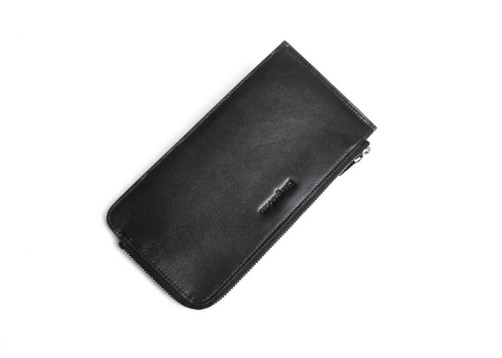 Genuine Cowhide leather mens wallet classical design cards holder case
