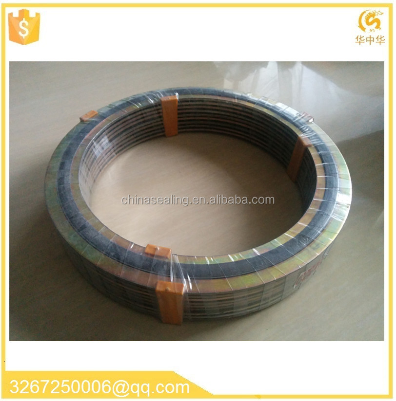 Metal graphite material Spiral wound gasket made in China graphite metal jacket gasket