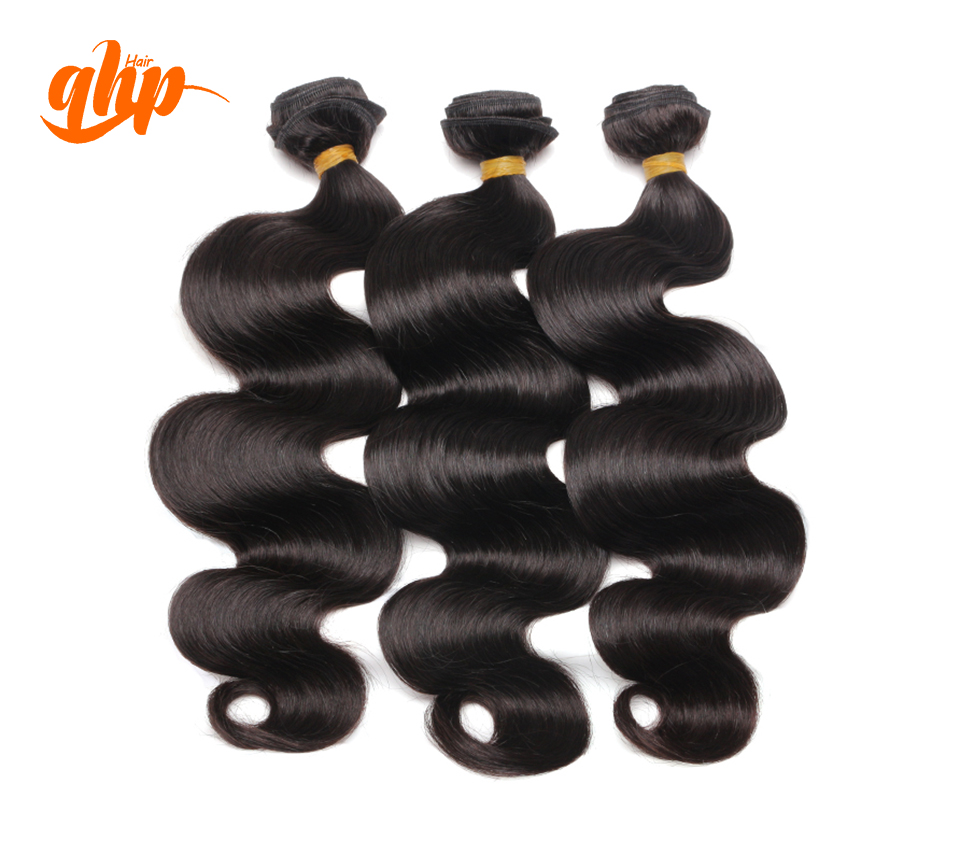 Qhp Hair 6A Wholesale Raw Unprocessed Virgin Indian Hair Extensions