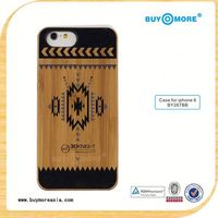 Printing Wood Bamboo Premium Case for iPhone 6, For Case iPhone 6 Bamboo Color Painted Solid Wood Cell Phone Cases