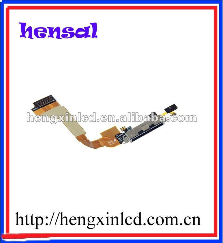 Mobile Phone Replacement for iphone 4G USB Dock Port Charging Connector Flex Cable with 6month guarantee