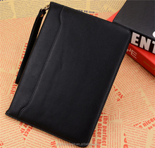 Exquisite luxury leather flip cover lanyard hand bag for iPad air 9.7 2017 universal wallet case