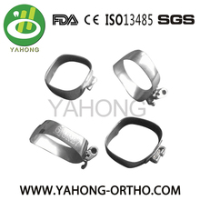 Dental Orthodontic Metal Sandblasted Molar Bands Welded Tubes ang Lingual Cleats