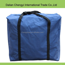 High capacity multicolor square polyester luggage travel tote bag