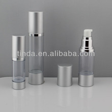 Single Wall aluminium Cap airless bottle for Cosmetic Packing