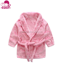 2017 Hot Sale Toddler Unisex Baby Robe Hooded Fleece Bathrobe and Towel for Kids
