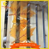 China supplier window display ideas custom gold plastic/acrylic maple leaf