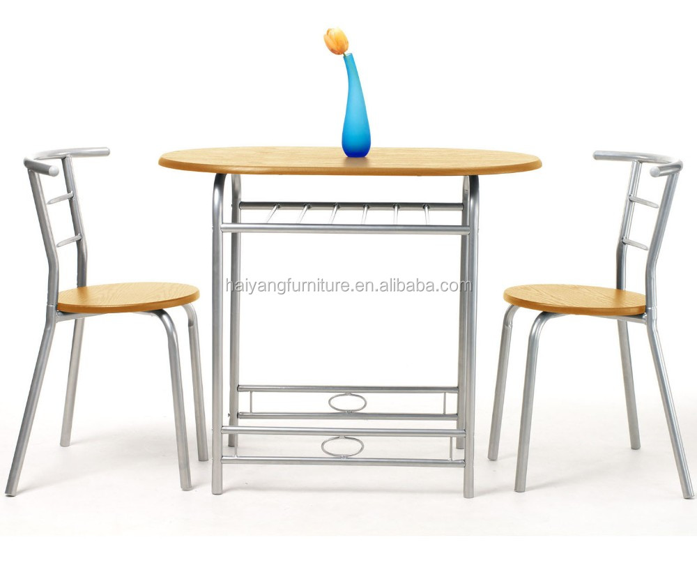 Modern wooden kitchen dining table and chair set for sale