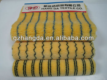 poliacrylic paint roller fabric yellow with color stripe 900g/sqm-18mm