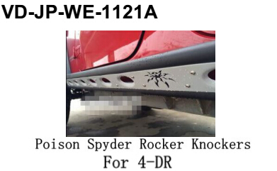 For jeep wrangle poison spyder rocker knockers for 4-dr