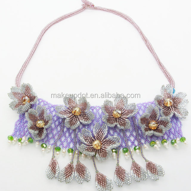 New Fashion Handmade Bohemian Statement Flower Necklace 2017 New Luxury Jewelry Necklace For Lady