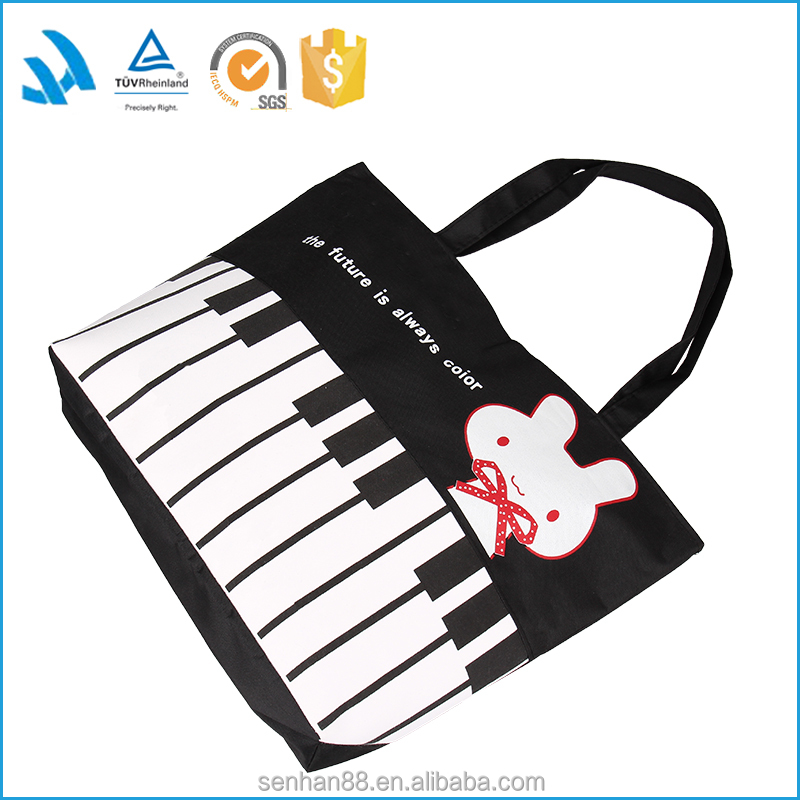 Latest Fashion Strip Canvas Tote Shopping Bag Wholesale For Young People