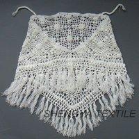 ladies hand knitted shawl with palpus tassel