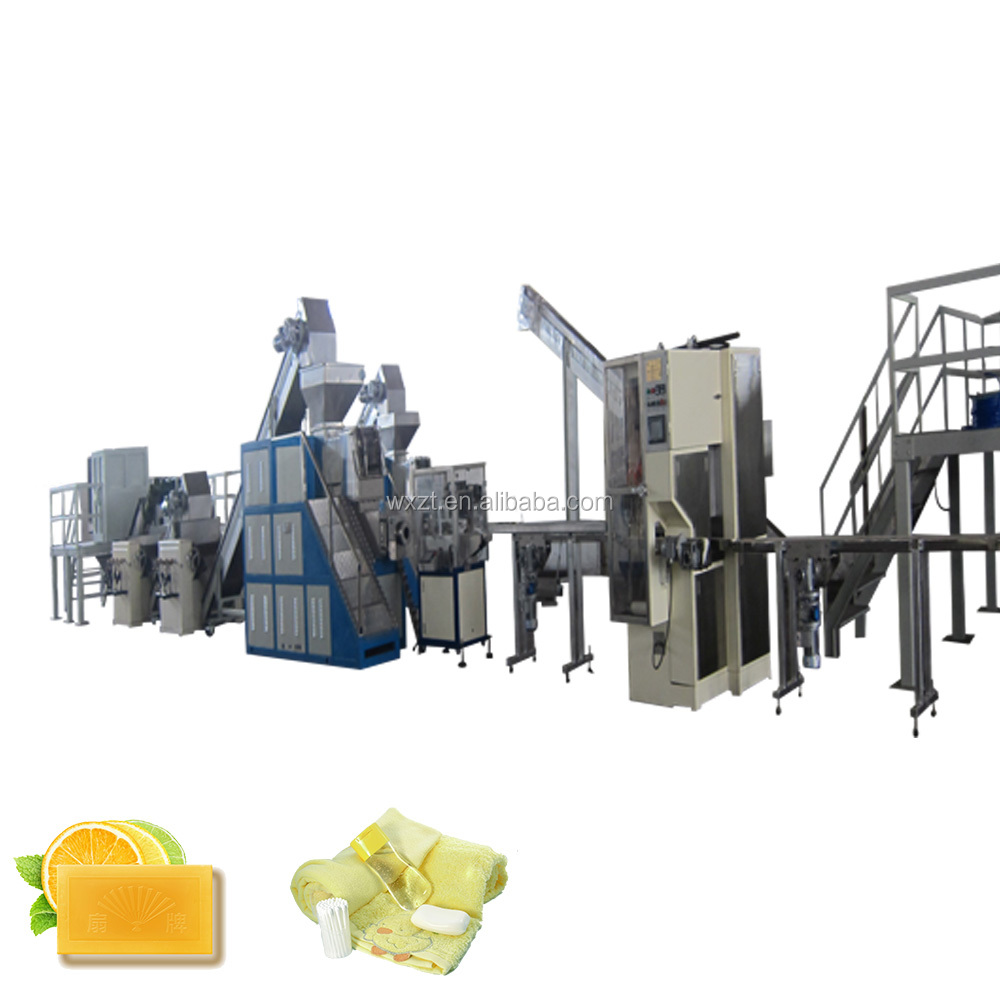 ZT-1000 Toilet Soap and laundry soap making Production Line for soap cutting and forming manufacturing line