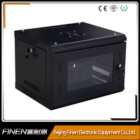 6u Network Data Server Cabinet Security Lock Box Rack Black