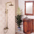 Antique Brass Wall Mounted Rain Shower Faucet Set