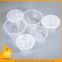 Food Grade take away pet container, 100ml-3000ml 6 compartment round plate disposable sushi box