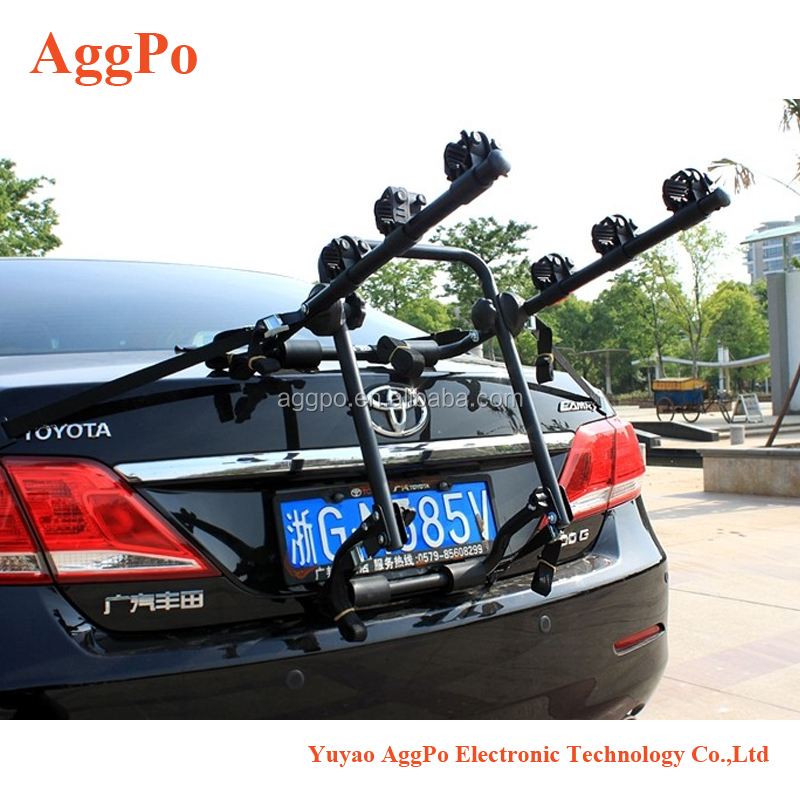 Car trunk bike rack Deluxe Trunk Mount 3-Bike Carrier,Auto Hitch Mount Bicycle Bike Rack Car SUV Truck Carrier 09