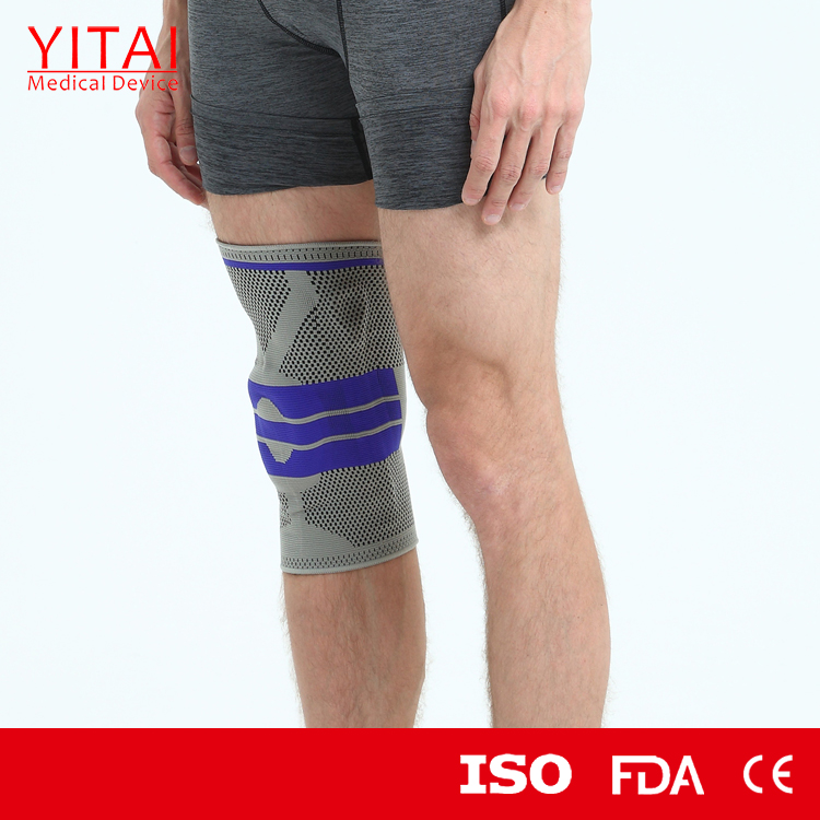 Customized Nylon Rubber Knitting Knee Support Brace