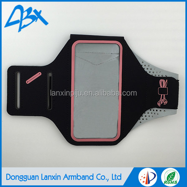 Lycra hot sale mobile phone arm band,case for samsung galaxy s3 pink color