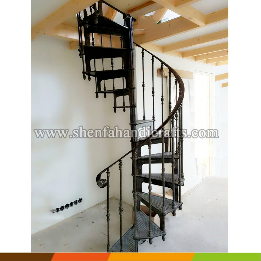 factory used metal outdoor stairs, indoor cast iron spiral staircase