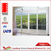 High quality YH 60 series PVC French tempered glass sliding door