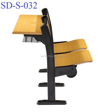 No.SD-S-032 University Student Study Table Furniture Classroom Desk And Chair Manufacture