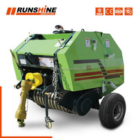 Round hay baler/hay bale press