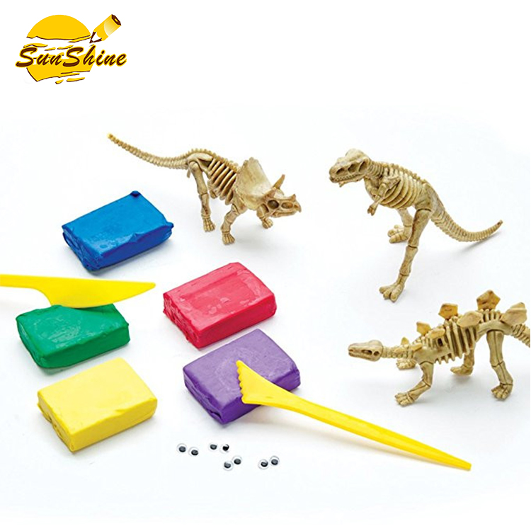 Creativity Figures Clay Dinosaurs Toys Science Funny Team Game for kids