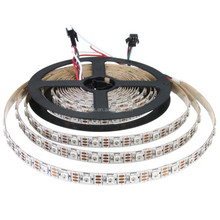 DC5V 16.4ft 5m WS2812b 60leds/pixels/m Flexible Individually Addressable Led Strip Dream Color