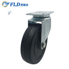 Chinese swivel solid hard rubber 5 inch adjustable casters and wheels in stock