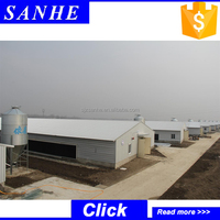 Industrial shed designs light frame prefabricated farm steel structure
