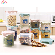 NBRSC BPF FREE Round shaped clear plastic Airtight Food Storage Container with Easy Lock Lids