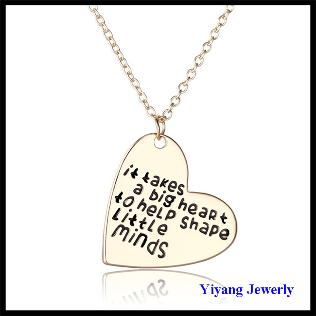 2017 Latest Design Jewelry 14k Gold Necklace for Mom