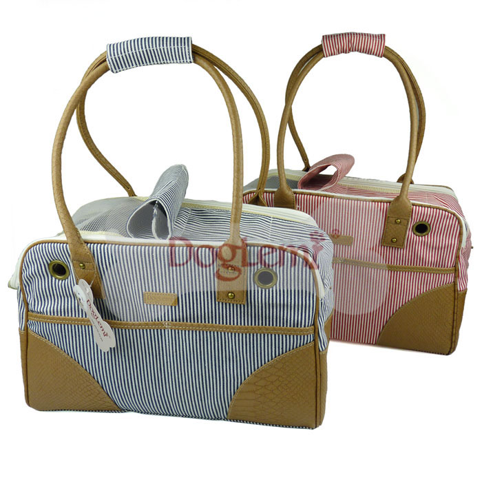 Doglemi Classic Striped Pet Out Side Carrier Dod Bags