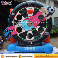Hot sale sport type velcro inflatable shooting soccer darts with cheap price