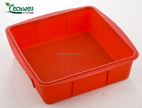 microwave use silicone materials 10 INCH square cake pan
