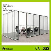 office partition standard size aluminum profile clear glass tempered glass partition wall