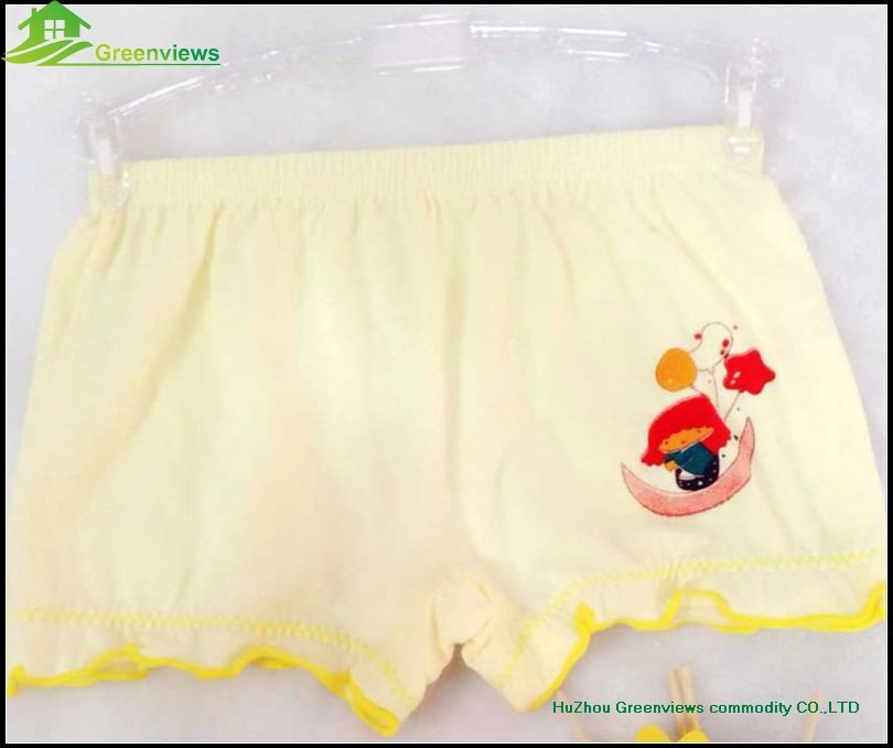 Good quality pure cotton cute cartoon underwear for little girls and kids underwear boxer shorts GVFR0014