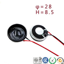 28mm Round Speaker unit 8 ohm 1W Mylar Speaker for Cordless phone, Siren horn