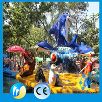 Water Theme Park Equipment Classical Amusement Rides Shark Island Fighting
