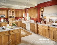 customized Solid wood kitchen cabinet whit beautiful island