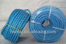 top quality polypropylene fibrillated yarn 3 strands twisting rope