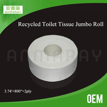 2 ply wood pulp white jumbo roll toilet tissue paper factory in guangdong