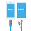 2015 new Micro USB Cable in 2 in 1 Sync Data Charging USB Cable for iPhone 5 5s 6 plus IOS 8 Charger Cable