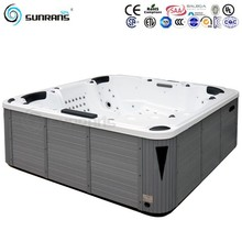 Hot sale CE approval whirlpool jacuzzi function massage bathtubs for 7 persons