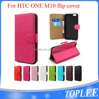 new design! case for HTC one m10 flip cover