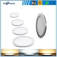 12W SMD 2835 round led panel lights ceiling down light for shopping mall and housing